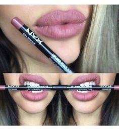 Nyx - Mauve Slp 831 Lip Liner Lip Pencil Sealed - March 24 2019 at Love Makeup, Beauty Makeup, Hair Beauty, Makeup Dupes, Skin Makeup, Elf Dupes, Nyx Cosmetics, Nyx Slim Lip Pencil, Eyebrow Pencil
