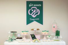 girl scout bridging | girl scouts party ideas | homespun hostess | scout party | girl scout leader