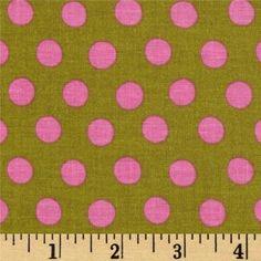 Kaffe Fassett Classics Spot Lichen Pink Olive by Free Spirit Cotton Fabric