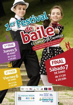 ¡¡¡1er Festival de baile en el CC Santa Cruz Carrefour!!!   Concurso de baile de todos los estilos entre varias academias de baile de Santa Cruz.  1ª FASE: Jueves 5 de junio de 17:30 a 19:30 hrs. 2ª FASE: Viernes 6 de junio de 17:30 a 19:30 hrs.  FINAL: Sábado 7 de junio de 17:30 a 20:30 hrs.  http://www.santacruzcarrefour.com/