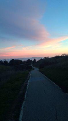 UC Santa Cruz is the prettiest UC campus by far! Go slugs :) enjoying this beautiful sunset on my way to class.