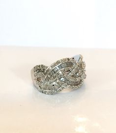 Vintage Diamond Ring 1.30 CT Carat Genuine by AntiqueJewelryForFun