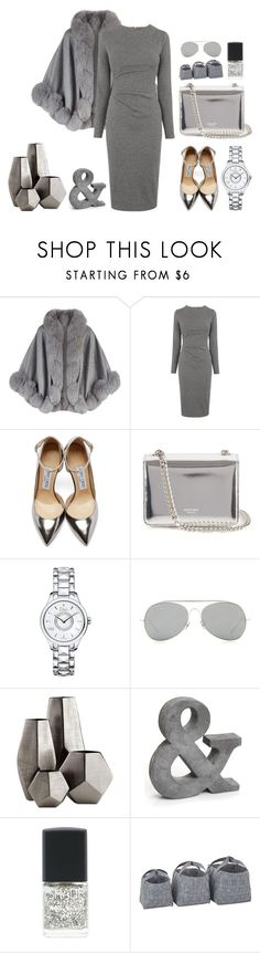 """Silver lights"" by alexbtni ❤ liked on Polyvore featuring Harrods, Whistles, Jimmy Choo, Rochas, Christian Dior, Acne Studios, Cyan Design and Lane Bryant"