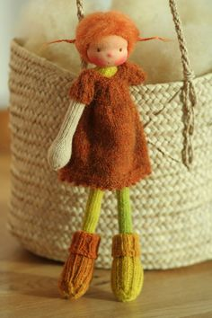 Waldorf doll Soft doll Knitted doll by PeperudaKnittedDolls