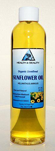 Sunflower Oil Unrefined Organic Carrier Cold Pressed Pure 8 oz - http://essential-organic.com/sunflower-oil-unrefined-organic-carrier-cold-pressed-pure-8-oz/