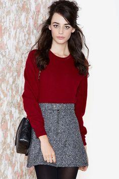 Vintage Kadie Crop Cashmere Sweater