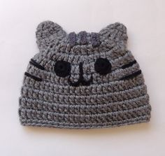 Pusheen Cat Hat / Beanie - Premie, Newborn, Child, Teen, Adult - Halloween / Cosplay Wig/ Baby Shower Gift by KernelCrafts on Etsy