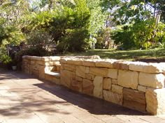 Fantastic Free sandstone Retaining Walls Suggestions When you've got the garden while in the Knoxville spot, chances are you've got thought it was difficult so tha. Retaining Wall Steps, Backyard Retaining Walls, Landscape Walls, Landscape Design, Garden Design, Modern Landscaping, Backyard Landscaping, Rock Wall Gardens, Stone Stairs