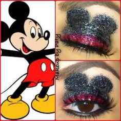 Mickey Mouse inspired makeup