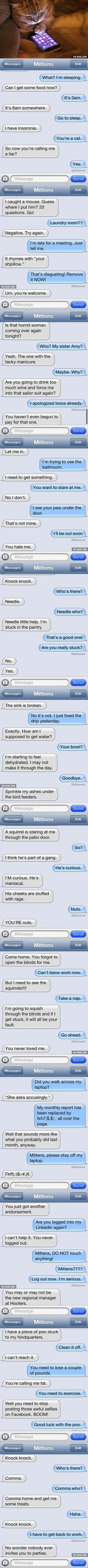 Text Messages From A Cat...