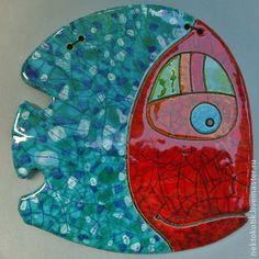 Животные ручной работы. Ярмарка Мастеров - ручная работа Керамическое панно «Рыба». Handmade.
