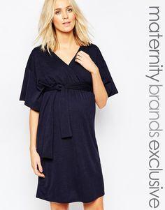 Image 1 ofBluebelle Maternity Wrap Front Dress