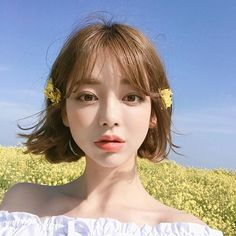 Pretty Korean Girls, Cute Korean Girl, Asian Girl, Korean Beauty, Asian Beauty, Hair Inspo, Hair Inspiration, Medium Hair Styles, Short Hair Styles
