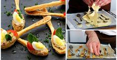 Diese originellen Löffel aus Blätterteig sind ein Highlight auf jedem Partybuffet!
