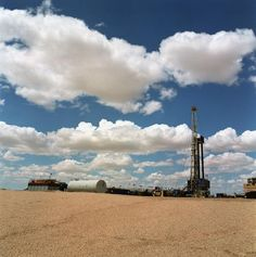 Polish drilling rig at Kazakhstan desert