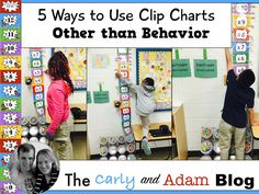 The Carly and Adam Blog: 5 Ways to Use Clip Charts Other Than Behavior
