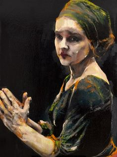 Lita Cabellut - Coco 39 Lita Cabellut grew up as a gypsie on the streets of Barcelona and was orphaned after her grandmother died.