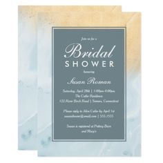 Blue and Gold Marble Bridal Shower Invitation - wedding invitations cards custom invitation card design marriage party