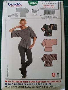 Last week, Fabricland finally had a sale on Vogues and Burdas, so I bought a handful of each that I've been wanting. Among the Burdas was . Burda Sewing Patterns, Blouse Patterns, Clothing Patterns, Diy Clothing, Sewing Clothes, Kimono Diy, Sewing Alterations, How To Make Clothes, Couture Tops