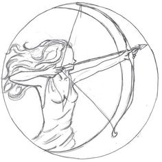 """Artemis and her silver bow and arrow. Inspiration for """"The Immortal Game"""" by Joannah Miley"""
