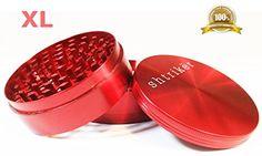 Shtriker® Grinder Extra Large 3.0 Inch 4 Piece. Tobacco Grinder / Spice Grinder / Herb Grinder / Weed Grinder (Red) Shtriker http://www.amazon.com/dp/B00UXWRPGW/ref=cm_sw_r_pi_dp_iUPHvb1MMYZ1T