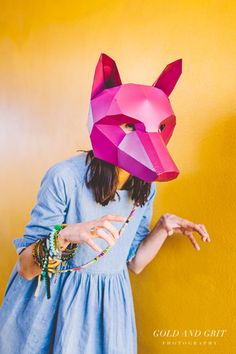 DIY 3D Polygonal Fox Mask by Wintercroft Masks //