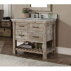 This rustic style bathroom vanity features with tip out trays  soft closing  drawres Bath Vanities   Native Trails   Americana Vanity Collection  . Rustic Vanities For Bathrooms. Home Design Ideas