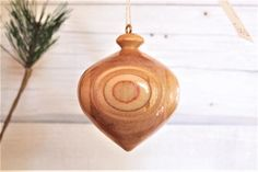 Turned Wood Ornament 126