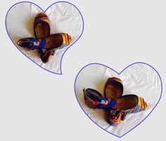 African print shoes from Afrikulcha at $30