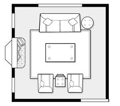 Design Project- Living Room Furniture Space Plan