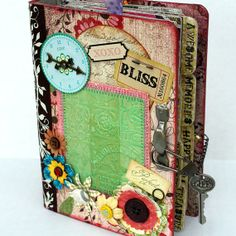 chipboard albums | BLISS Chipboard Binder Scrapbook Album by Papersilly on Etsy