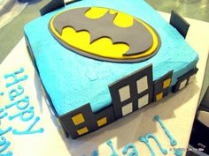 Step by Step Tutorial for making a Batman Cake by A Turtle's Life for Me