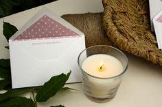 Tarjetas de agradecimiento con sobres forrados personalizados! www.silviagali.com