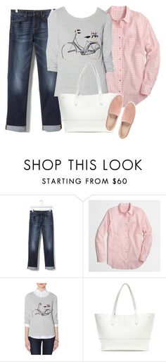 """""""Spring Outfit"""" by mygirlyarmour ❤ liked on Polyvore featuring Banana Republic, J.Crew, The Limited and Clarks"""