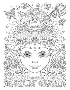 Butterflies and Bees Adult Coloring Page | Adult coloring, Bees ...