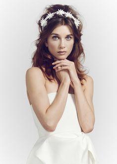Maria by Luna Bea. Alternatives to a traditional veil #wedding #headpiece