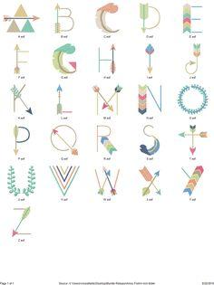 Hang to Dry Applique - Arrow Font, $4.99 (http://www.hangtodryapplique.com/arrow-font/)