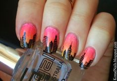Bundle Monster Skyline nail art