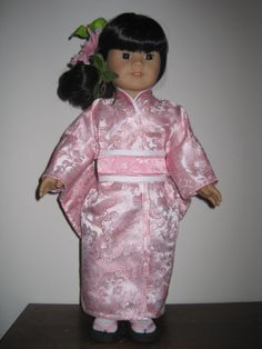 Brocade Kimono for American Girl and Similar 18 Inch Dolls