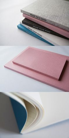 Take this notebook with you everywhere to freely express your mind by drawing or writing on it at any time! Plain Notebook, Diy Notebook, Notebook Covers, Journal Notebook, Cute Office Supplies, School Supplies, Art Supplies, Weird Furniture, Stationary Box
