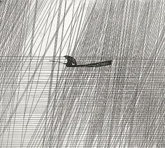 Art Hansen. Rain and the Fisherman, 1981. Etching. Edition of 100. 8 x 10 inches. $150