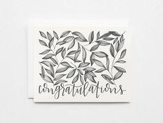 Congratulations Card Set  Hand Illustrated от PrintStitchAndPaste