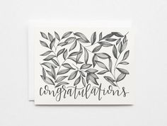 Congratulations Card Set  Hand Illustrated by PrintStitchAndPaste