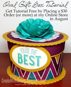 Get my Oval Gift Box Tutorial Free by Placing a Qualifying Stampin' Up! order at my Online Store - Create With Christy - Christy Fulk, Stampin' Up! Demo