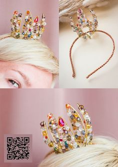 Princess Crafts, Princess Party Favors, Head Accessories, Wedding Hair Accessories, Head Jewelry, Wire Jewelry, Diy Headband, Headbands, Wire Crown