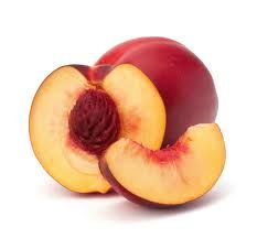 Oh! More like this one! The deep berry color right in the V of the half nectarine and the slice, on the whole one. And then the yellowish, creamy color at the top of the half cut one. Does any of that make sense? hahaha