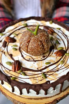 Vegan Pumpkin Swirl Cheesecake