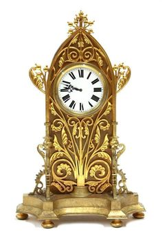 Tiffany Gilt & Marble Clock, Circa 1800's #EuropeanAntiques