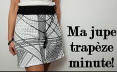 DIY couture facile: Comment coudre une jupe trapèze- sans patron-! - couture tuto, couture facile pour débutant