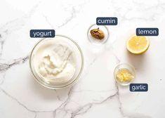 Lemon Yogurt Sauce for Lamb Koftas Lamb Mince Recipes, Kebab Recipes, Paleo Recipes, Kebab Sauce, Ground Lamb Recipes, Lamb Koftas, Lamb Kebabs, Middle East Food, Full Fat Yogurt